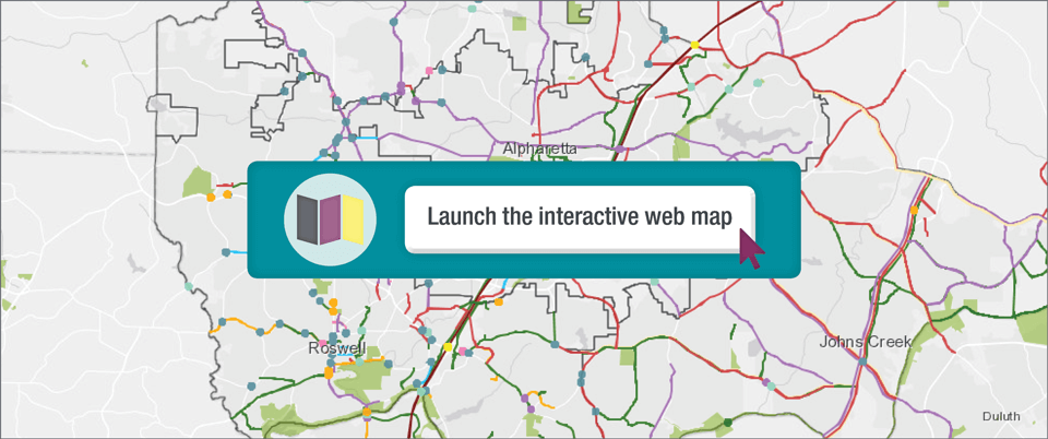 North Fulton Comprehensive Transportation Plan interactive web map